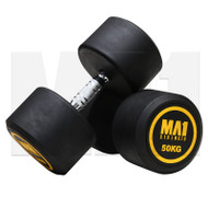 MA1 Commercial Rubber Dumbbells - 50kg (Pairs)