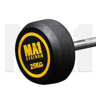 MA1 Fixed Rubber Barbell 25kg