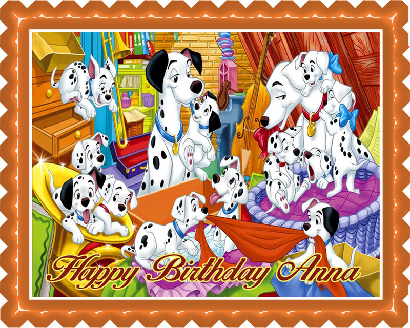 101 DALMATIANS Edible Birthday Cake Topper