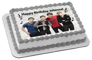 BIG TIME RUSH Edible Birthday Cake Topper OR Cupcake Topper, Decor