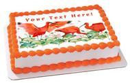 Scarlet Ibis Tropical Bird- Edible Cake Topper OR Cupcake Topper, Decor