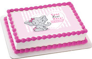 It's a Girl Elephant Baby Shower- Edible Cake Topper OR Cupcake Topper, Decor