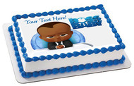 African American Boss Baby Boy - Edible Cake Topper OR Cupcake Topper, Decor