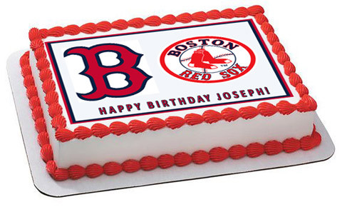 BOSTON RED SOX Edible Birthday Cake Topper