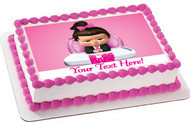 The boss Baby Girl - Edible Cake Topper OR Cupcake Topper, Decor