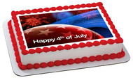 4th of July (Nr2) -  Edible Cake Topper OR Cupcake Topper, Decor