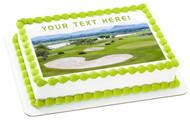 Golf - Edible Cake Topper OR Cupcake Topper, Decor
