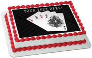 Playing Cards 4 A - Edible Cake Topper OR Cupcake Topper, Decor