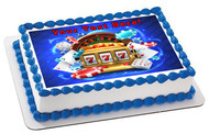 Casino Gambling Roulette Big Lucky Slot Machine - Edible Cake Topper OR Cupcake Topper, Decor