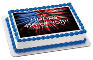 4th of July (Nr3) - Edible Cake Topper OR Cupcake Topper, Decor