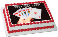 Playing Poker Cards - Edible Cake Topper OR Cupcake Topper, Decor