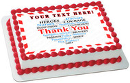 Thank you Heart for Covid-19 Nurses and Healthcare - Edible Cake Topper OR Cupcake Topper, Decor