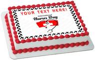 Thank You Nurses Covid-19 - Edible Cake Topper OR Cupcake Topper, Decor