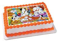 101 DALMATIANS Edible Birthday Cake Topper OR Cupcake Topper, Decor