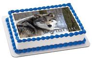 Wolf (Nr3) - Edible Cake Topper OR Cupcake Topper, Decor