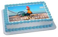 Moana hei hei chicken - Edible Cake Topper OR Cupcake Topper, Decor