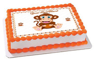 Cute Baby Monkey - Edible Cake Topper OR Cupcake Topper, Decor