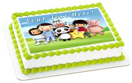Little Baby Bum (Nr2) - Edible Cake Topper OR Cupcake Topper, Decor