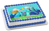 ADVENTURE TIME Edible Birthday Cake Topper OR Cupcake Topper, Decor