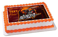 Ninja (Nr2) - Edible Cake Topper OR Cupcake Topper, Decor