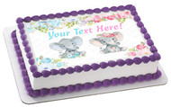 Mocsicka Elephant Gender Reveal Baby Shower - Edible Cake Topper OR Cupcake Topper, Decor