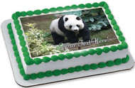 Beautiful Panda Bear - Edible Cake Topper OR Cupcake Topper, Decor