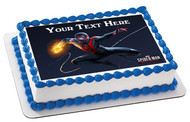 Marvel's Spider Man Miles Morales - Edible Cake Topper OR Cupcake Topper, Decor