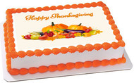 Thanksgiving (Nr2) - Edible Cake Topper OR Cupcake Topper, Decor