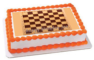 Chess Board (Nr2) - Edible Cake Topper OR Cupcake Topper, Decor