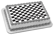 Chess Board - Edible Cake Topper OR Cupcake Topper, Decor