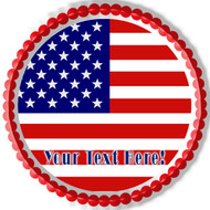 AMERICAN FLAG (Nr2) - Edible Cake Topper OR Cupcake Topper, Decor