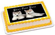 Siberian Husky Puppy Dog - Edible Cake Topper OR Cupcake Topper, Decor
