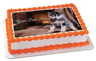 Husky Puppy - Edible Cake Topper OR Cupcake Topper, Decor