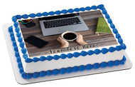 Laptop Keyboard - Edible Cake Topper OR Cupcake Topper, Decor
