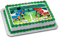 Football players vector illustration - Edible Cake Topper OR Cupcake Topper, Decor