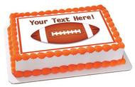 American Football - Edible Cake Topper OR Cupcake Topper, Decor