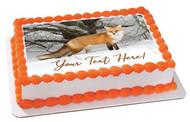 Red Fox - Edible Cake Topper OR Cupcake Topper, Decor