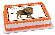 Lion - Edible Cake Topper OR Cupcake Topper, Decor