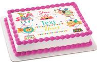 Kids Birthday - Edible Cake Topper OR Cupcake Topper, Decor