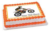 Motocross Rider Jumping - Edible Cake Topper OR Cupcake Topper, Decor