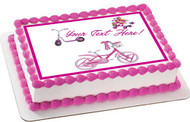 Cute Kids Bicycle  Roller Skating and Roller Scooter - Edible Cake Topper OR Cupcake Topper, Decor