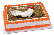 White Rooster - Edible Cake Topper OR Cupcake Topper, Decor