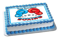 Boxing Gloves - Edible Cake Topper OR Cupcake Topper, Decor