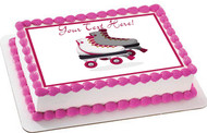 Roller Skating - Edible Cake Topper OR Cupcake Topper, Decor