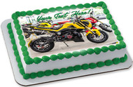Sport Motorcycle - Edible Cake Topper OR Cupcake Topper, Decor