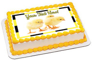 Small Chickens - Edible Cake Topper OR Cupcake Topper, Decor