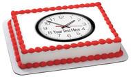 Round wall clock - Edible Cake Topper OR Cupcake Topper, Decor