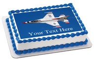 US Air Force - Thunderbirds 17 - Edible Cake Topper OR Cupcake Topper, Decor