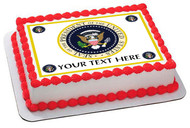 President Seal - Edible Cake Topper OR Cupcake Topper, Decor