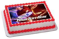 Flash Superhero - Edible Cake Topper OR Cupcake Topper, Decor